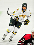 29 December 2010: University of Vermont Catamount forward Sebastian Stalberg, a Sophomore from Gothenburg, Sweden, in action against the 2011 U.S. Men's National University Team in an exhibition game at Gutterson Fieldhouse in Burlington, Vermont. The Catamounts defeated the National team 7-1. Mandatory Credit: Ed Wolfstein Photo