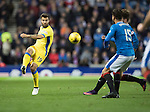 Rangers v St Johnstone&hellip;26.10.16..  Ibrox   SPFL<br />Richie Foster is closed down by Harry Forrester and Josh Windass<br />Picture by Graeme Hart.<br />Copyright Perthshire Picture Agency<br />Tel: 01738 623350  Mobile: 07990 594431