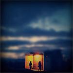 Night falls on Venice Beach