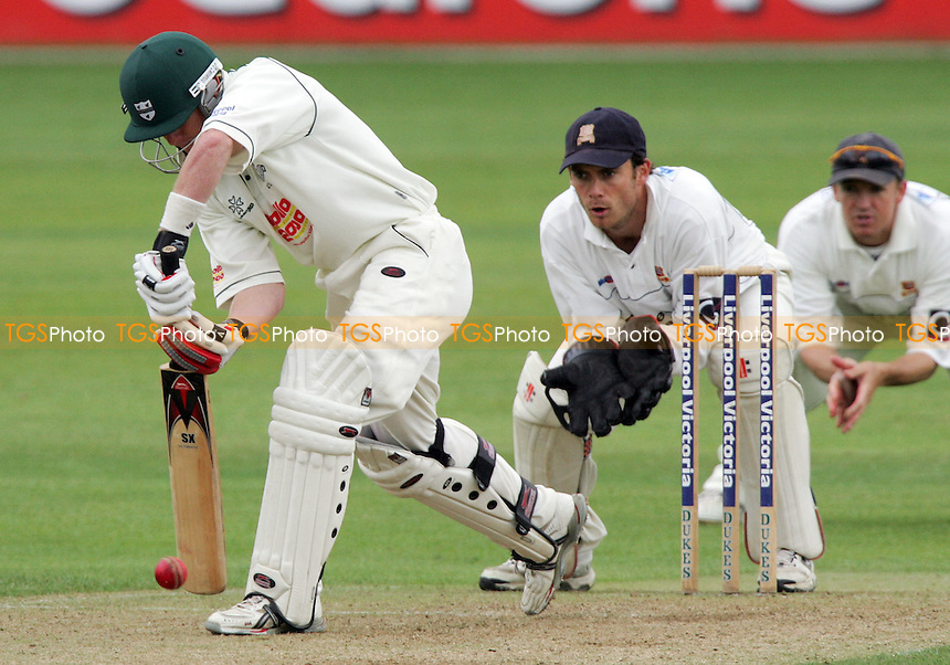 Worcestershire's P Jaques gets forward to the bowling of T Phillips - Essex CCC vs Worcestershire CCC - 14/06/06 - Liverpool Victoria County Championship Division Two - (Gavin Ellis 2006)