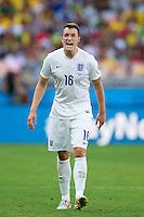 Phil Jones of England shouts