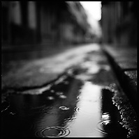 Rain, Cuba | Black and White Photography