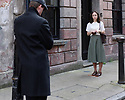 """London, UK. 29.07.2016. On the set of short film """"Little Bird"""", written by Emilly Taaffe, directed by Georgia Oakley, produced by Emily Taaffe and Rebecca Cronshey, Director of Photography Nanu Segal. Staring Emily Taaffe and Imelda Staunton. Picture shows: Mathew Hayes, Emily Taaffe. Photograph © Jane Hobson."""