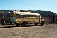 Guajolotero bus that took us to the sierra. Wixarika (Huichol) community in the Sierra Madre Occidental, Mexico