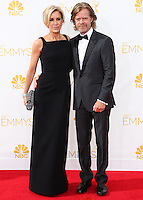 LOS ANGELES, CA, USA - AUGUST 25: Actress Felicity Huffman and actor William H. Macy arrive at the 66th Annual Primetime Emmy Awards held at Nokia Theatre L.A. Live on August 25, 2014 in Los Angeles, California, United States. (Photo by Celebrity Monitor)