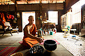 Road to Nirvana. Becoming a Buddhist monk. Burma, 2012.