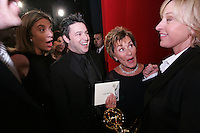 28 April 2006: Ellen DeGeneres with Judge Judy in the exclusive behind the scenes photos of celebrity television stars in the STAR greenroom at the 33rd Annual Daytime Emmy Awards at the Kodak Theatre at Hollywood and Highland, CA. Contact photographer for usage availability.
