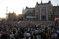 Viktor Orban prime minister of Hungary delivers his speech during the 56th anniversary of Hungary's revolution of 1956 in Budapest, Hungary on October 23, 2012. ATTILA VOLGYI