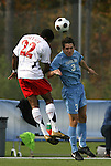 12 November 2008: UNC's Zach Loyd (3) and Maryland's Rodney Wallace (22). The University of Maryland defeated the University of North Carolina 1-0 at Koka Booth Stadium at WakeMed Soccer Park in Cary, NC in a men's ACC tournament quarterfinal game.