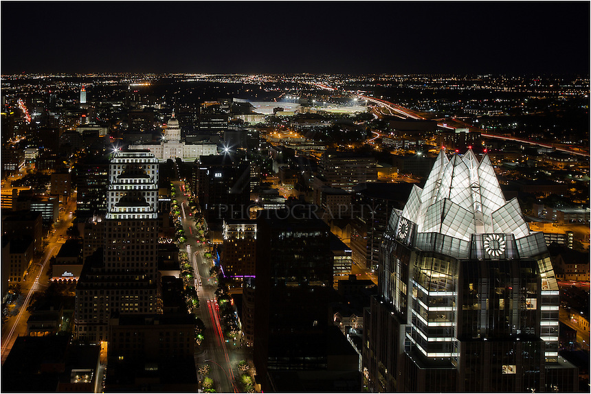 From the Penthouse Suite of the Austonian in downtown Austin, Texas, this is the commanding view you'll have looking down Congress Avenue towards the State Capitol.