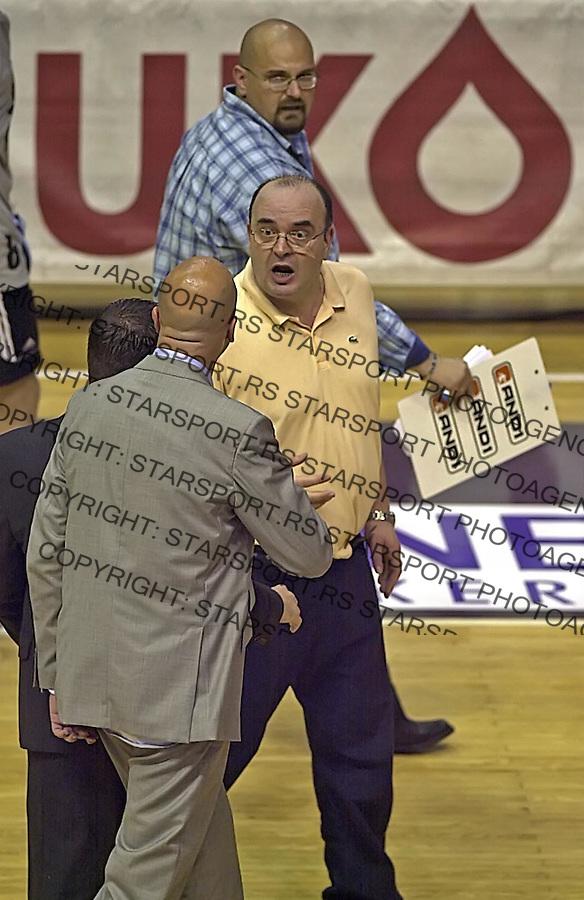 SPORT KOSARKA CRVENA ZVEZDA PARTIZAN PLAY OFF Ilic Vujosevic Dzikic 16.6.2005. foto: Pedja Milosavljevic<br />