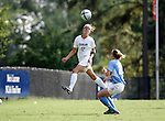 Jill Porto, of UAB, heads the ball on Sunday September 18th, 2005 at Duke University's Koskinen Stadium in Durham, North Carolina. The University of North Carolina Tarheels defeated the University of Alabama-Birmingham Blazers 4-0 during the Duke adidas Classic soccer tournament.
