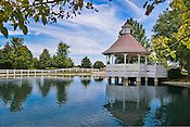 Gazebo on grounds of Brookhaven Retirement Community.