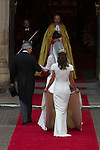 Mcc0031197 . Daily Telegraph..Fixed Point..Kate Middleton arriving at Westminster Abbey..The Royal Wedding of Prince William and Kate Middleton..London 29 April 2011
