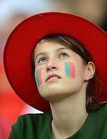 FUSSBALL  EUROPAMEISTERSCHAFT 2012   VIERTELFINALE Tschechien - Portugal              21.06.2012 Portugiesischer Fussballfan