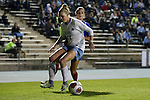 18 November 2016: North Carolina's Hannah Gardner (71) shields the ball from Kansas's Katie McClure (behind). The University of North Carolina Tar Heels played the University of Kansas Jayhawks at Fetzer Field in Chapel Hill, North Carolina in a 2016 NCAA Division I Women's Soccer Tournament Second Round match. UNC won the game 2-0.