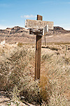 Street sign in the historic town of Rhyolite