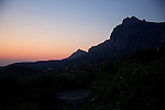 Dawn, View of Carmi Mountains
