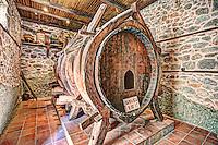 A giant wine barrel of Varlaam Monastery in the Meteora Monastery complex in Greece.