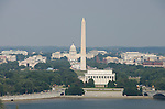 Washington DC USA: The Washington Monument, Lincoln Memorial, and Capitol, as seen from Arlington, VA.Photo copyright Lee Foster Photo # 2-washdc82813