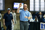11 February 2017: UNC coach Will Randolph appeals a ruling during Saber. The Duke University Blue Devils hosted the University of North Carolina Tar Heels at Card Gym in Durham, North Carolina in a 2017 College Men's Fencing match. Duke won the dual match 19-8 overall, 6-3 Foil, 6-3 Epee, and 7-2 Saber.
