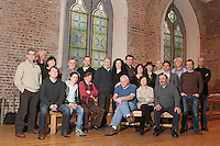 13/12/2010. The Field rehearsals.  Brian Dennehy performing the iconic role of 'The Bull' McCabe and cast members are pictured at Smock Alley Theatre, Temple Bar, Dublin for their first day of rehearsals for John B Keane's award-winning play, The Field. It will be directed by Joe Dowling. The play returns to The Olympia Theatre where it premiered over 45 years ago and will run from January 13 through to 12 February. Picture James Horan/Collins Photos