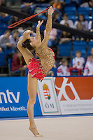 Anna Gurbanova (AZE) performs with the rope during the final of the 2nd Garantiqa Rythmic Gymnastics World Cup held in Debrecen, Hungary. Sunday, 07. March 2010. ATTILA VOLGYI