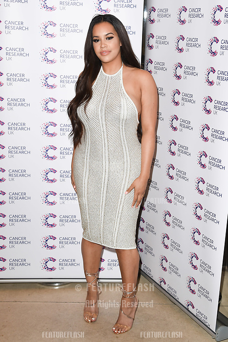 Lateysha Grace arriving at James Ingham&rsquo;s Jog On to Cancer, in aid of Cancer Research UK at The Roof Gardens in Kensington, London.  <br /> 12 April  2017<br /> Picture: Steve Vas/Featureflash/SilverHub 0208 004 5359 sales@silverhubmedia.com