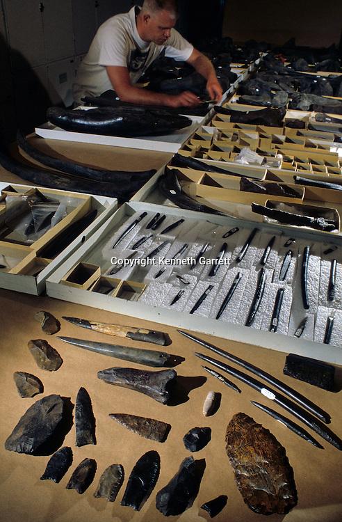 Peopling the Americas; Bone & Stone tools; Aucilla River; Florida