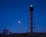 Marblehead Light at moonset, Marblehead, MA, USA