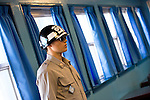 Republic of Korea servicemen stand guard at the conference rooms in the Joint Security Area of the demilitarized zone (DMZ) that stands between South Korea and North Korea about 50 km north of Seoul, South Korea on 24 June, 2010..