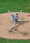 20 September 2015: Miami Marlins pitcher Scott McGough on the mound against the Washington Nationals at Nationals Park in Washington, DC. The Marlins fell to the Nationals 13-3 in the final game of their 4-game series. Mandatory Credit: Ed Wolfstein Photo *** RAW (NEF) Image File Available ***