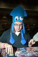 A few casual  players wore costumes. <br /> <br /> <br /> Magic The Gathering Grand Prix, Washington DC. <br /> <br /> Danny Ghitis for Bloomberg Businessweek