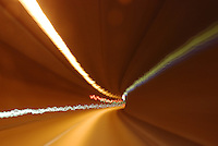 Time lapse motion in tunnel