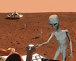 Mars' resident Aliens hotwire the Mars Rover.