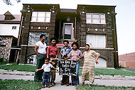 Detroit. U.S.A, September, 1980. America severely marked by the recession. These automobile industry workers being out of work canot support their living anymore.