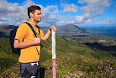 Randonneur au sommet du Pic Malaoui, Nouméa