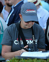 HALLANDALE BEACH, FL - JANUARY 28:  California Chrome fan getting the camera ready for the $12,000,000 Pegasus World Cup Invitational on Pegasus World Cup Invitational Day at Gulfstream Park on January 28, 2017 in Hallandale Beach, Florida. (Photo by Liz Lamont/Eclipse Sportswire/Getty Images)