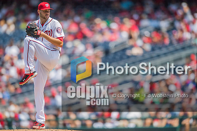 24 July 2016: Washington Nationals starting pitcher Lucas Giolito on the mound against the San Diego Padres at Nationals Park in Washington, DC. The Padres defeated the Nationals 10-6 to take the rubber match of their 3-game, weekend series. Mandatory Credit: Ed Wolfstein Photo *** RAW (NEF) Image File Available ***