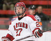 Michael Biega (Harvard - 27) - The visiting Quinnipiac University Bobcats defeated the Harvard University Crimson 3-1 on Wednesday, December 8, 2010, at Bright Hockey Center in Cambridge, Massachusetts.
