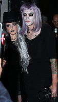 WEST HOLLYWOOD, CA, USA - OCTOBER 31: Shenae Grimes, Josh Beech arrive at Adam Lambert's 2nd Annual Halloween Bash held at Bootsy Bellows on October 31, 2014 in West Hollywood, California, United States. (Photo by Xavier Collin/Celebrity Monitor)