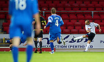 St Johnstone v Bolton....02.08.10  Pre-Season Friendly.Martin Petrov makes it 1-0.Picture by Graeme Hart..Copyright Perthshire Picture Agency.Tel: 01738 623350  Mobile: 07990 594431