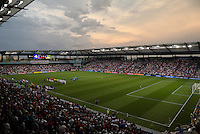 Kansas City, Kansas - Monday, July 13, 2015: The US Men's National team go up against Panama during group play in the 2015 Gold Cup at Sporting Park.