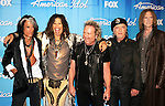 Aerosmith 2012 American Idol Finale Joe Perry, Steven Tyler, Joey Kramer, Brad Whitford and Tom Hamilton at Nokia Theater in Los Angeles, May 23rd 2012..Photo by Chris Walter/Photofeatures