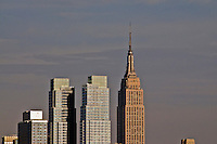 Silver Towers luxury rental buildings on 42nd Street and Empire State building, Manhattan, New York City, New York, USA, Costas Kondylis is the architect