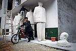 A village enterprise. Mao Zedong statue makers a few kilometres from his birth place...From China [sur]real © Mark Henley..