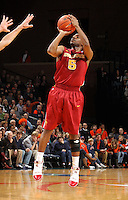 Dec. 30, 2010; Charlottesville, VA, USA; Iowa State Cyclones guard Darion 'Jake' Anderson (5) shoots the ball during the game against the Virginia Cavaliers at the John Paul Jones Arena. Mandatory Credit: Andrew Shurtleff