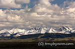 fresh snow on the badger two medicine  mountains from the blackfeet reservation, montana, usa