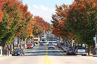 A view of West Main Street in Charlottesville, VA.  Photo/Andrew Shurtleff