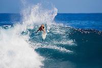 The late Andy Irons (HAW) free surfing at St Leu on Reunion Island. circa 2005 Photo: Joli